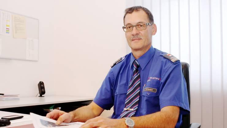 Peter Fedeli, Kommandant der Stadt- polizei, erläuterte die Vorteile, die ein eigenes Korps mit sich bringe.