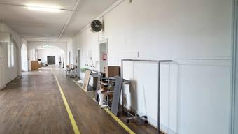 Die leeren Atelierräume im 3. Stock des Kasernen-Hauptbaus.