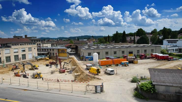 Der erste Neubau im Torfeld Süd wird ein Bürogebäude für die Rockwell Automation AG. Emanuel Freudiger Der erste Neubau im Torfeld Süd wird ein Bürogebäude für die Rockwell Automation AG. Emanuel Freudiger