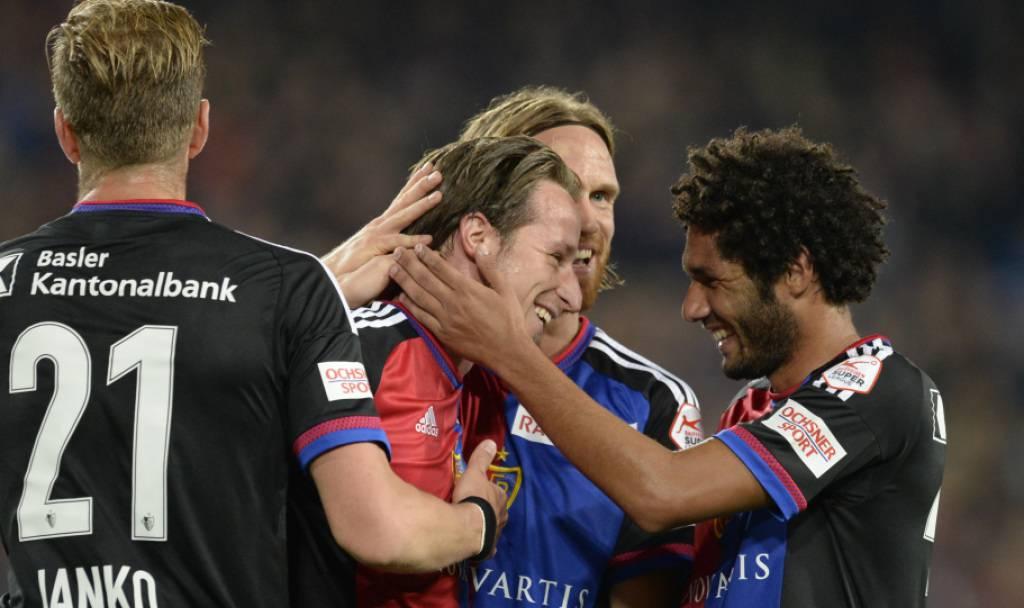 Luca Zuffis Tor im Spiel FC Basel - Lugano 3:1.
