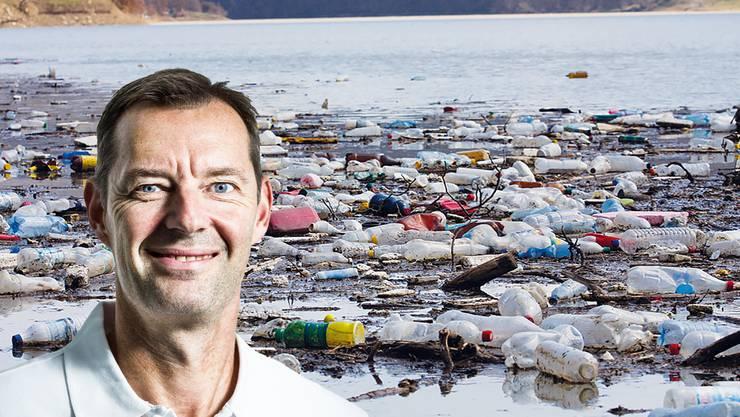 Plastikabfall im Meer gefährdet die Umwelt und die Gesundheit der Menschen, Dectris-Geschäftsführer will etwas dagegen unternehmen.
