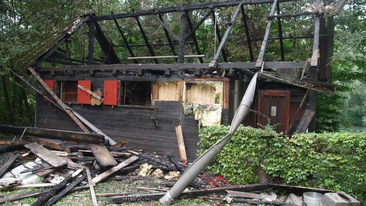 Beim Brand der Hütte entstand ein Sachschaden von gut 20000 Franken