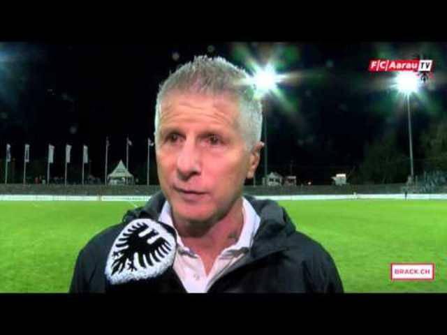 FC Aarau - FC Schaffhausen: Interviews mit Doppeltorschütze Carlinhos, Vizepräsident Roger Geissberger sowie Cheftrainer Livio Bordoli.