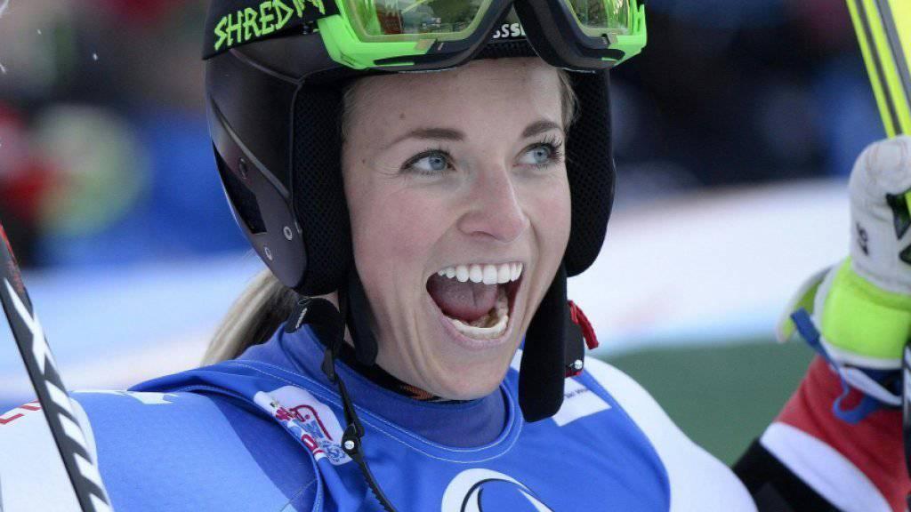 Lara Gut hat es geschafft: Die 24-jährige Tessinerin steht bereits vor den Rennen beim Weltcup-Finale in St. Moritz als Gesamtweltcupsiegerin fest