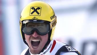Ein Schrei der Erleichterung: Max Franz feierte in Val Gardena seinen ersten Weltcup-Sieg