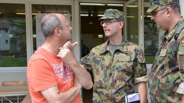 Nach der Überschwemmung vom Juli holte sich Markus Gabriel Unterstützung beim Militär. Nun hat er genug und tritt als Gemeindeammann nicht mehr zu den Neuwahlen im Herbst an.