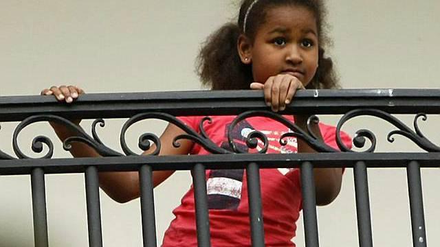 Sasha auf dem Balkon des Weissen Hauses