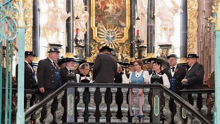 Auch zum 100-Jahr-Jubiläum will der Verein wieder mit einer Jodlermesse im Verenamünster auftreten. (Archivbild)