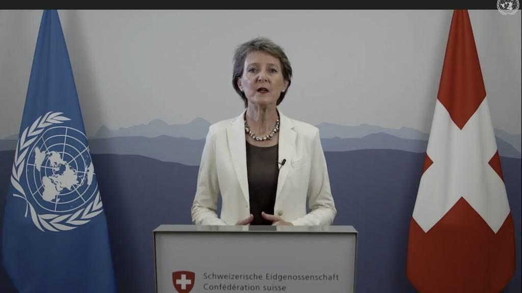 Simonetta Sommaruga ruft internationale Gemeinschaft zur Stärkung der UNO auf