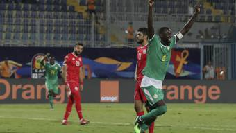Senegals Cheikhou Kouyate jubelt über den Einzug in den Final des Afrika-Cups