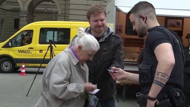 Spray-Aktion von Rentnerin bleibt unbestraft