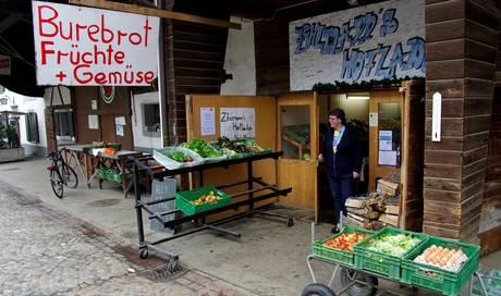 Hofladen Gemüse zu verkaufen vom Erzeuger Verkaufsschild Kartoffeln