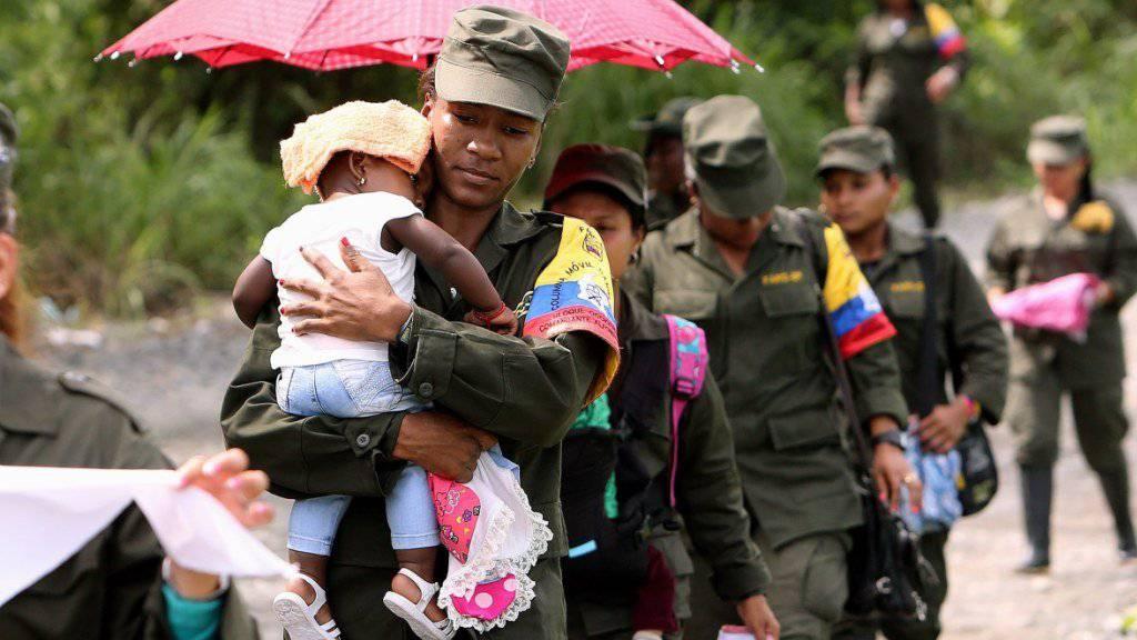 Nach dem Frieden die Familienplanung: Bei den FARC-Rebellen gibt es einen Baby-Boom.