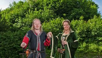Nadja und Helge Schmidt heirateten als Burgfräulein und Ritter wie vor 800 Jahren: «Die Liebegg ist unser Lieblings-Schloss!»