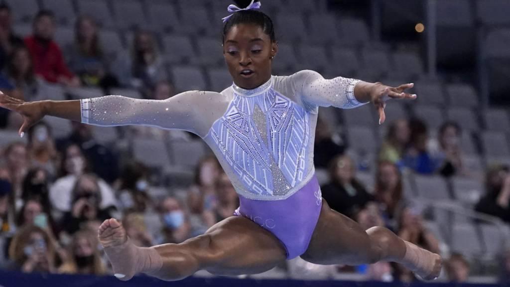 Stilsicher auch nach langer Wettkampfpause: Simone Biles