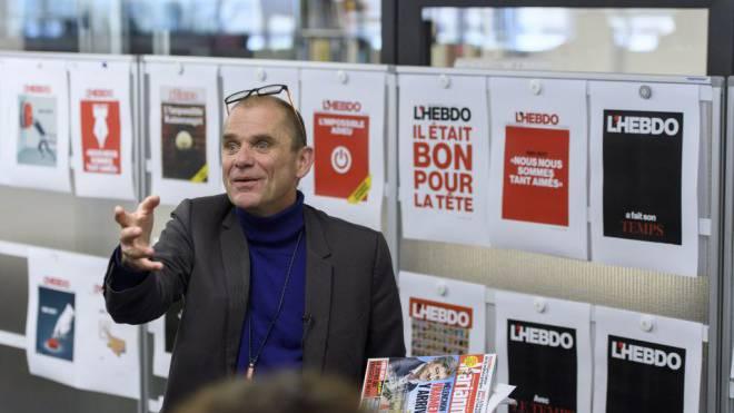 Alain Jeannet (59) gestern auf der «L'Hebdo»-Redaktion. Foto: Keystone/Laurent Gillieron
