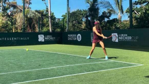 Ja, Tennis hat Bouchard tatsächlich auch gespielt