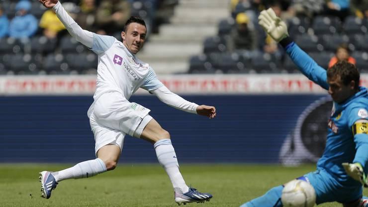 Drmic, aus der FCZ-Jugend kommend, absolviert 62 Spiele für die Stadtzürcher, in denen er 18 Tore schiessen kann.
