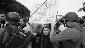 Protest gegen die Nominierung von Hubert Humphrey als US-Präsident und Edmund Muske als Vize, Chicago, Illinois, 28. August 1968.