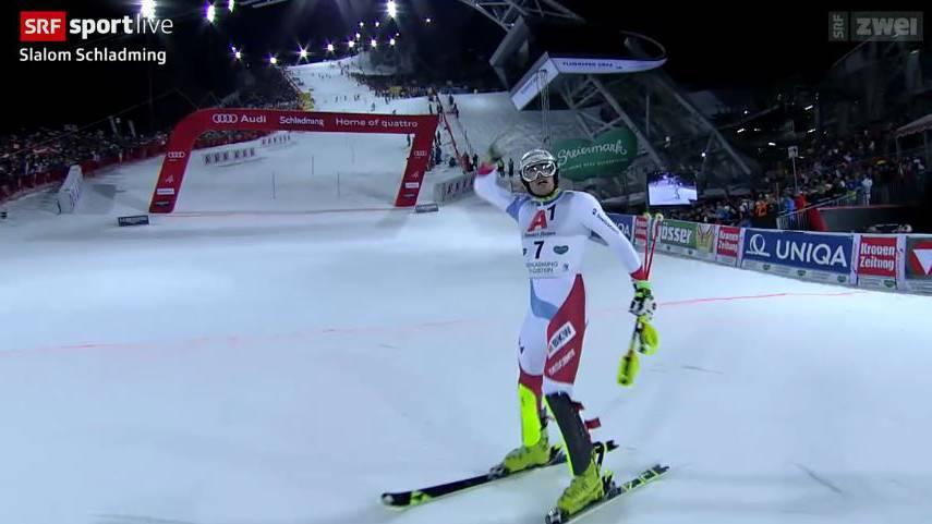 Daniel Yule auf Platz 3 in Schladming