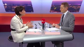 """""""TalkTäglich"""" mit Bundesrätin Doris Leuthard: Geht es ohne Atomkraft?"""