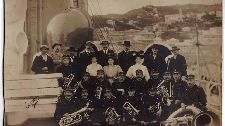 Die Musikgesellschaft Boswil zwischen 1910 und 1930.