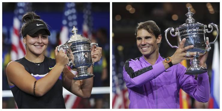 Mit Bianca Andreescu und Rafael Nadal fehlen die Titelverteidiger im Einzel.