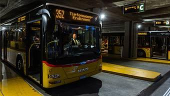 Eines der geäusserten Bedürfnisse der Badener sind bessere Busverbindungen. Im Bild: Der Badener Busbahnhof.