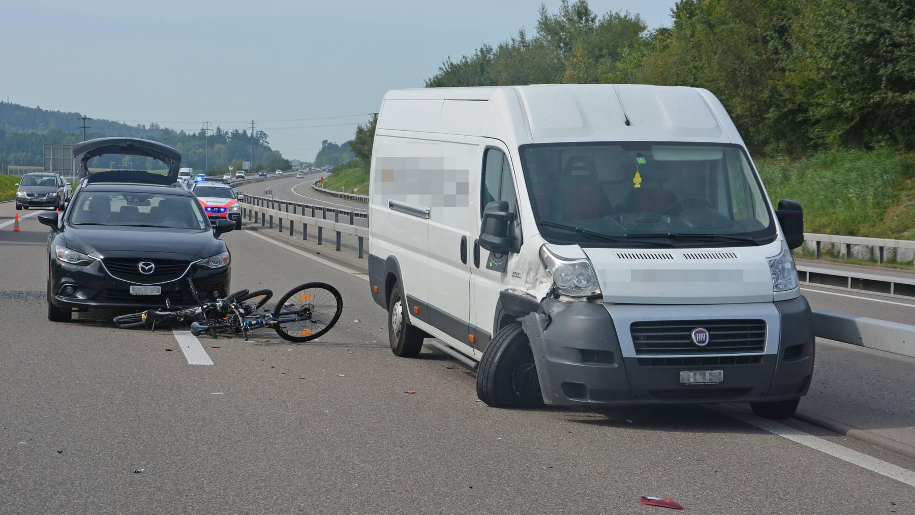 Bei den Unfällen wurde niemand verletzt.