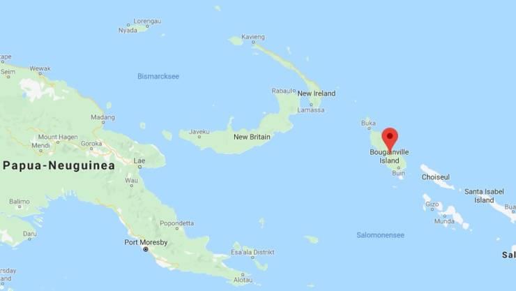 Bougainville im Osten Papua-Neuguineas ist knapp 9000 Quadratkilometer gross und hat zahlreiche kleinere Inseln.