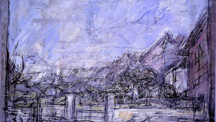 """Das Gemälde """"Landschaft bei Stampa"""" (1952) von Alberto Giacometti ist Teil der Ausstellung """"Ferdinand Hodler - Alberto Giacometti. Eine Begegnung"""" im Kunst Museum Winterthur. Sie dauert vom 21. April bis 19. August 2018."""