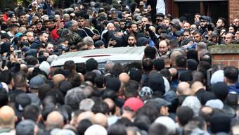 Beerdigung des verstorbenen Clanchefs Nidal R. in Berlin Schöneberg: Bis zu 10'000 Mitglieder arabischer Clans sollen in Berlin leben.