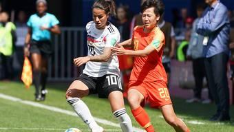 Ausfall auf unbestimmte Zeit: Spielmacherin Dszenifer Marozsan zog sich im WM-Auftaktspiel von Deutschland gegen China (1:0) einen Bruch des mittleren Zehs am linken Fuss zu