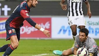 Juve-Keeper Buffon kann Treffer von Luca Antonini nicht verhindern