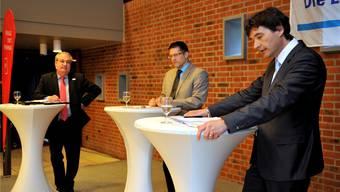 Die Diskussion zwischen Boris Banga und François Scheidegger wurde von Marco Jaggi geleitet. Oliver Menge