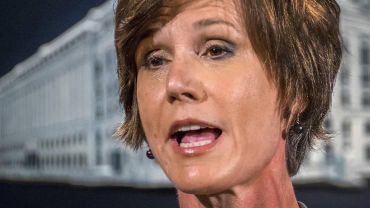 Nicht mehr Generalstaatsanwältin der USA: Sally Yates von Trump entlassen. (Archivbild)
