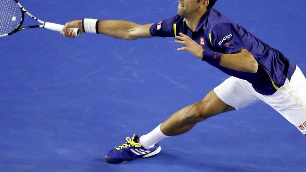 Novak Djokovic musste sich in den ersten zwei Runden noch nicht oft strecken.