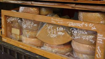 Käse in allen Variationen ist an der Messe äusserst beliebt.