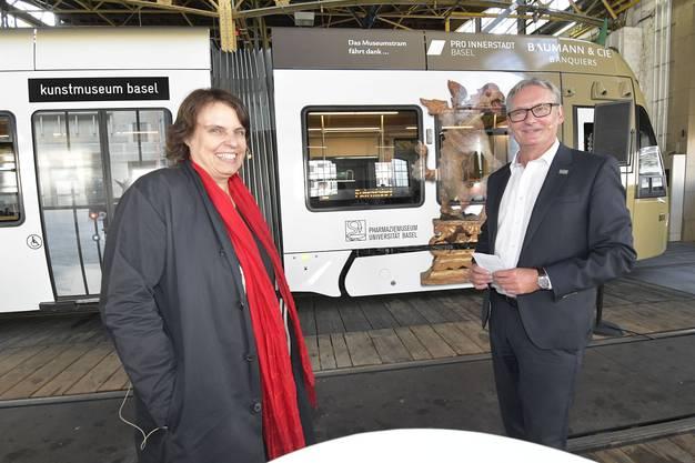 An der Einweihung nahmen Bruno Stehrenberger, Direktor der BVB, und Regierungspräsidentin Elisabeth Ackermann teil.