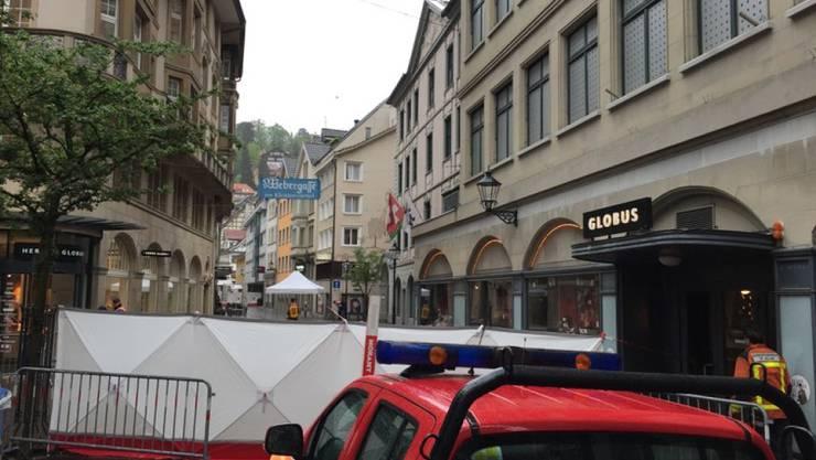 Im Stadtzentrum von St. Gallen wurde im Mai 2016 ein Mann vor seiner Haustüre erschossen. Am 3. Juli steht der mutmassliche Täter vor Gericht.