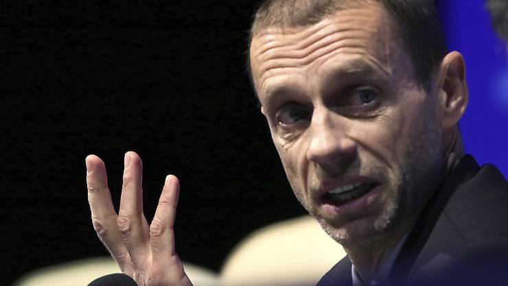 UEFA-Präsident Aleksander Ceferin schliesst aus, dass es bereits in der nächsten Saison einen Video-Schiedsrichter in der Champions League geben wird