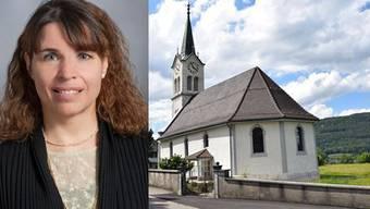 Pfarrerin Koenig und die Kirche in Rothrist