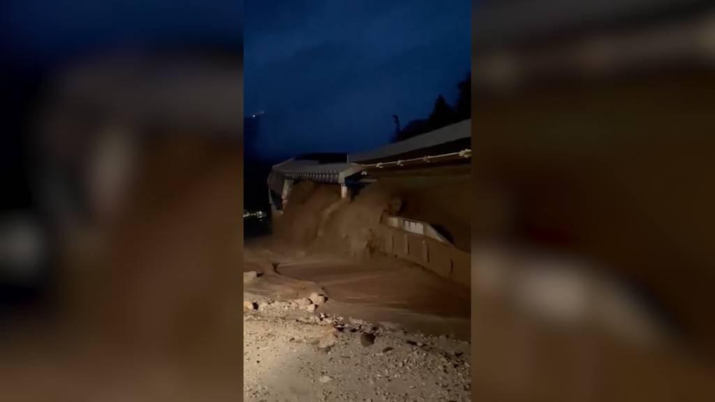 Bayern: Hochwasser spült Bob- und Rodelbahn weg
