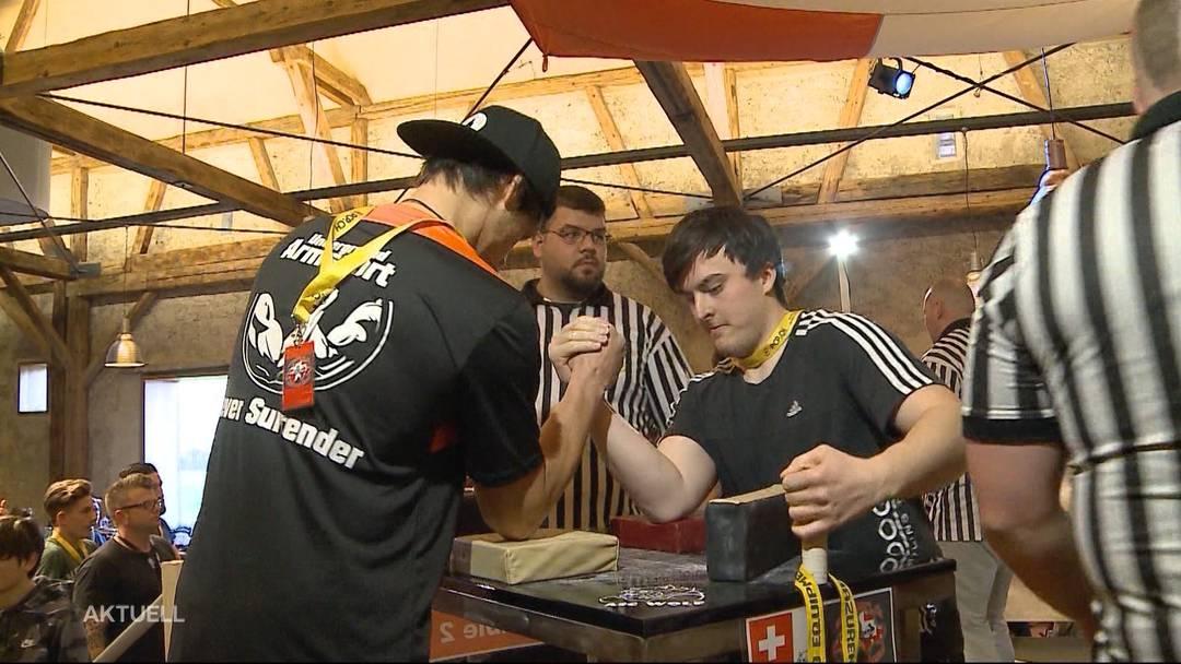 Mehr als nur starke Oberärme: Die Schweizermeisterschaft im Armdrücken