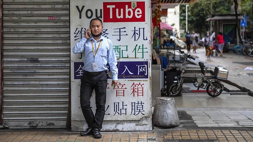 Google hat diverse Kanäle auf Youtube über China gelöscht. (Archivbild)
