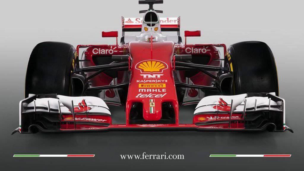 Ferrari präsentierte an seinem Firmensitz Maranello den neuen Wagen 'SF16-H'