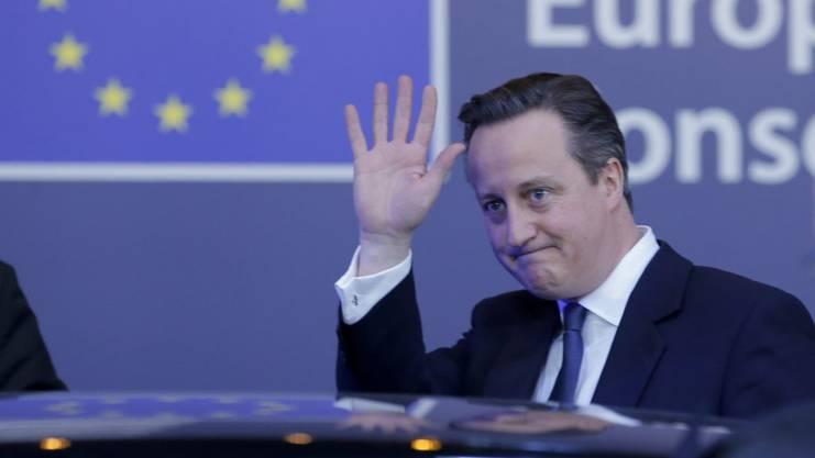 Der damalige Premierminister David Cameron.
