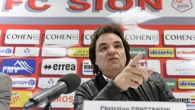 Will die Olympischen Winterspiele 2026 ins Wallis holen: Christian Constantin, Präsident des FC Sion und Bauunternehmer (Archiv).
