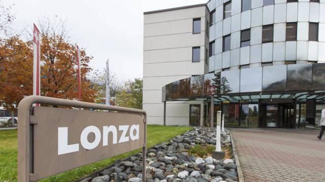 Die Lonza-Fabrik in Visp (Archiv)