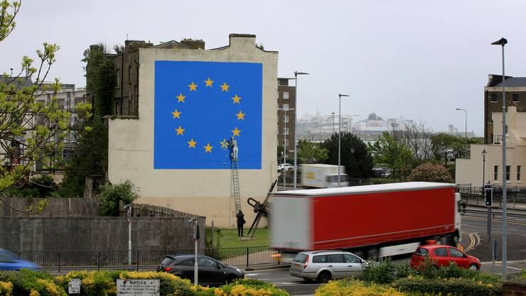 Kommt es wegen dem Brexit schon bald zu Riesen-Staus an den Ärmelkanalhäfen? (Dover, 8. Mai 2017)